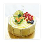 Torcik Lemon - Biały biszkopt przełożony intensywnym musem lemon.