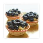 Korpus z ciasta kruchego wypełniony kremem budyniowym i dodatkiem świeżych (jagód)
